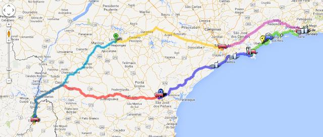 Armar viaje en auto utilizando Google Map