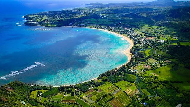 Kauai Island Hawaii Hanalei Bay Beach Sea Coast HD Wallpaper