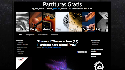 Partituras gratis. Pop, Rock, Clásica… Tutoriales, partituras, software. Todo para los amantes de la música.