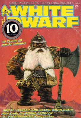 Portada del número 90 de la revista White Dwarf realizada por John Sibbick