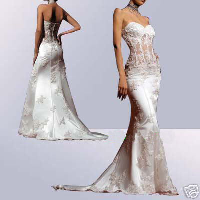 Casual Wedding Dress on Beautiful Wedding Dress  D Sexy Strapless Mermaid Wedding Dress
