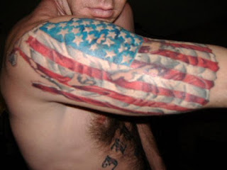 American flags tattoos info for Patriotic tribal tattoos