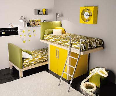 cuarto amarillo para joven