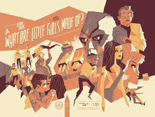 "Star Trek ""What Are Little Girls Made Of?"" Standard Edition Screen Print by Kevin Dart"