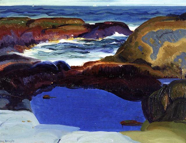 1913 The Blue Pool oil o