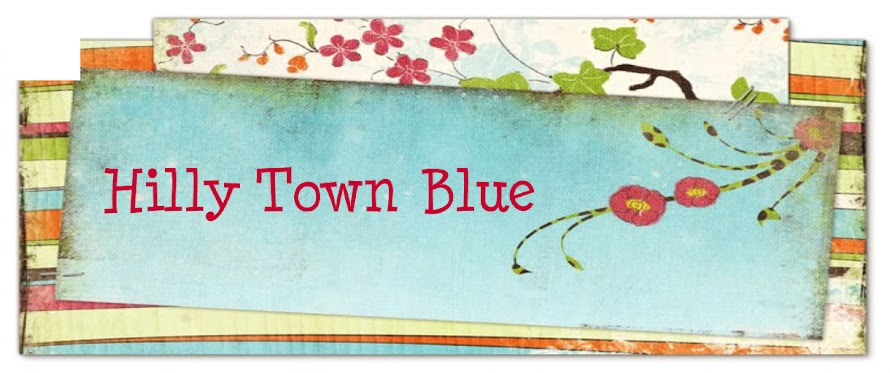 Hilly Town Blue