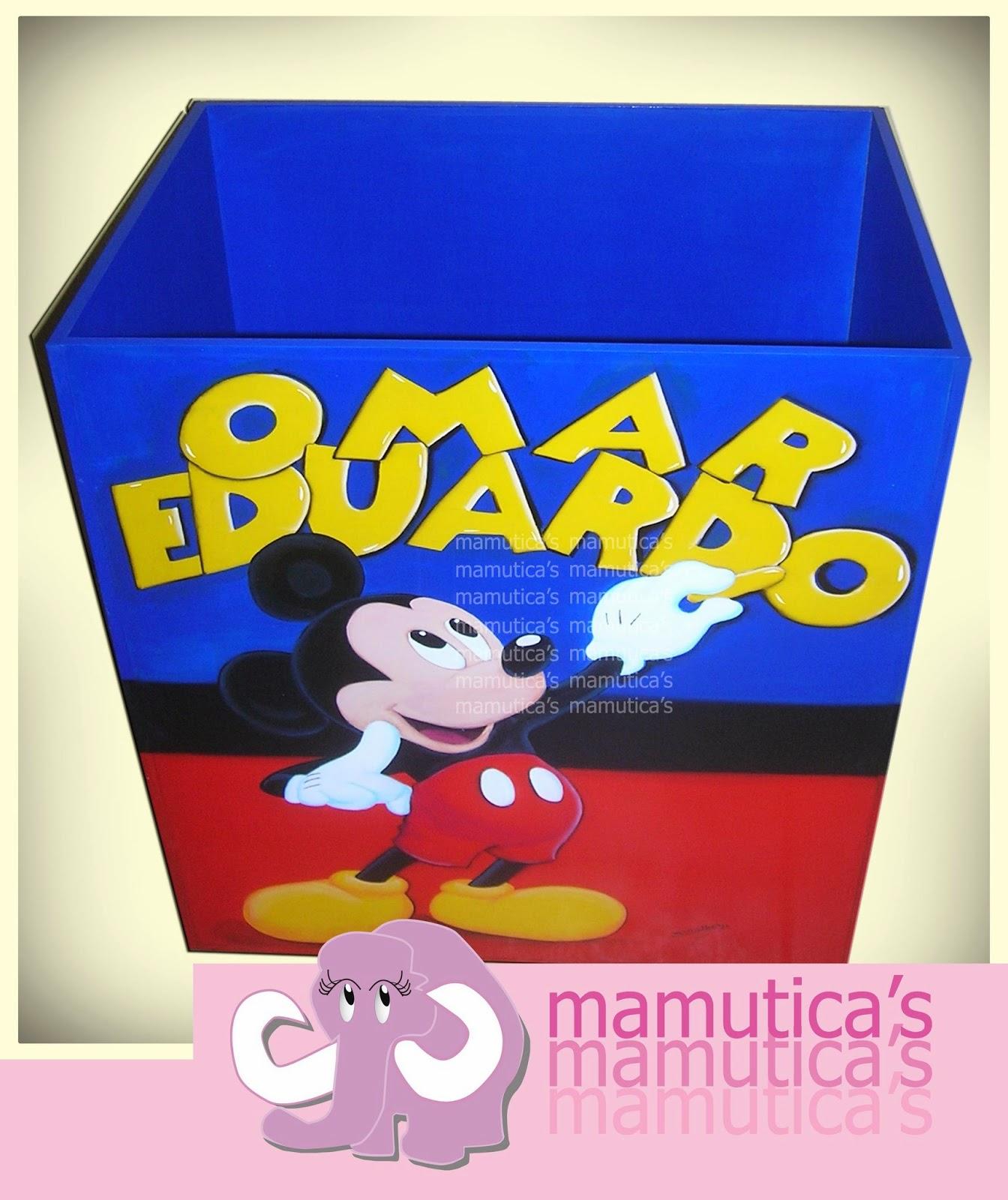 Mamutica's: Caja de MDF para regalos de Mickey Mouse personalizada