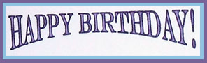 Birthday greeting in Word Art