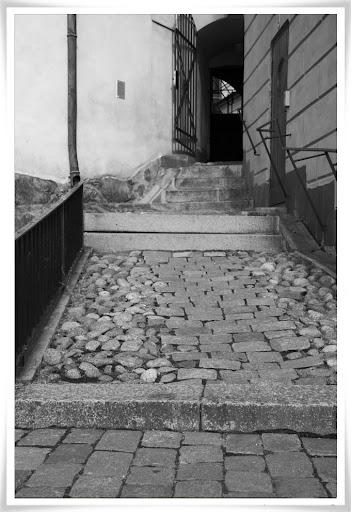 Trappa och stenbeläggning på Riddarholmen