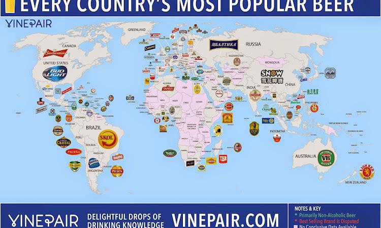 Dünya bira tüketim haritası