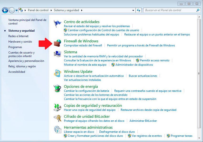 seguridad en windows II (firewall)