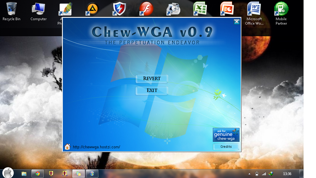 CHEW WGA V0.9 Windows 7. mac boot screen vista. facebook chat emotico