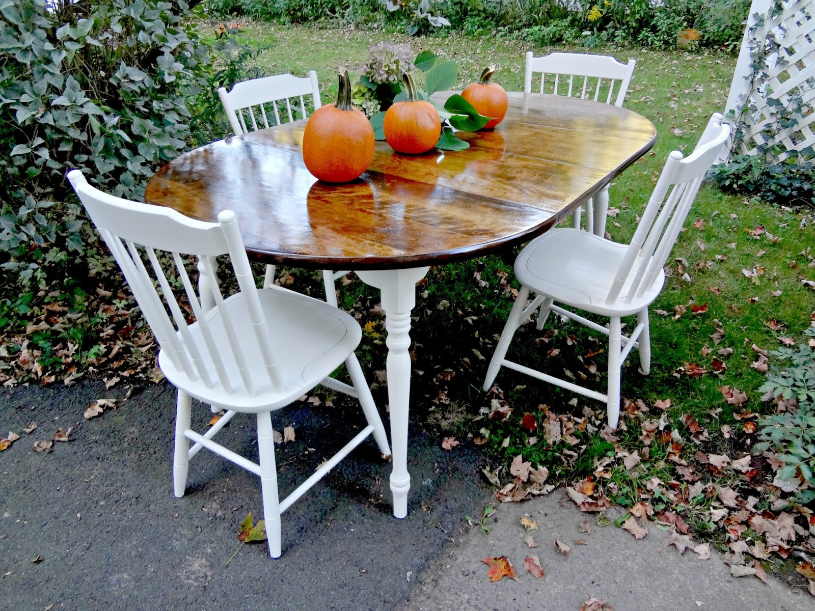 The Table Is 42 Round But Has Two 14 Inch Leaves As Well I Photographed It With And Without Before Afters Below
