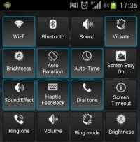 Pannello di controllo Android