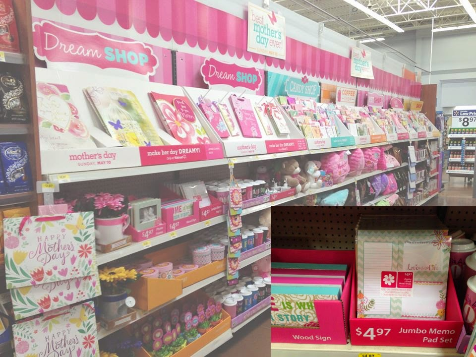 Classical homemaking mom is coming to visit for mothers day this display features cards bags and wrapping materials from american greetings as well as gift items like mugs flowers stationery and purses m4hsunfo