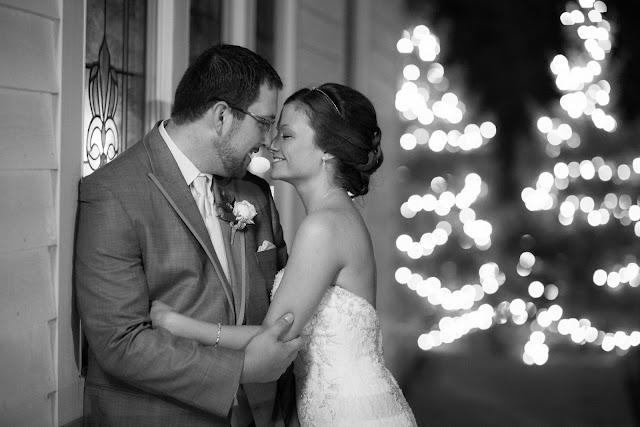 Bride and Groom Winter Shot