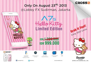 Hp Cross A7S Hello Kitty, Ponsel Android Murah
