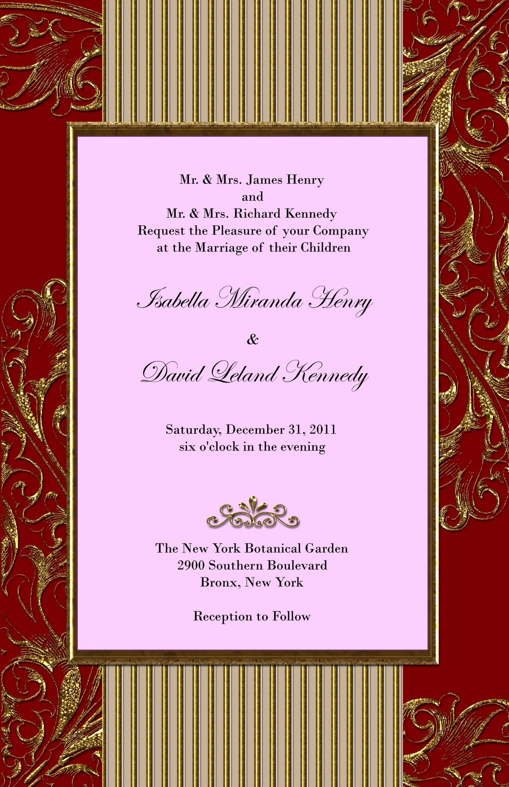 Red Invitations as luxury invitation layout