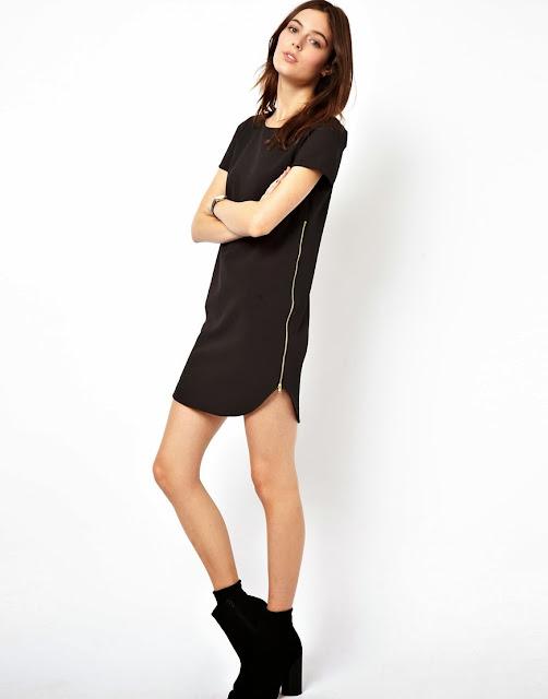 zip side dress