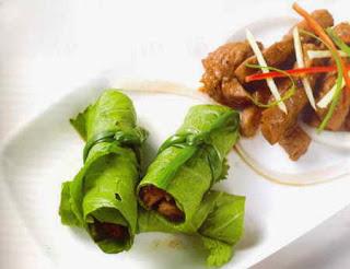 Món ăn ngon: Bò cuốn cải xanh