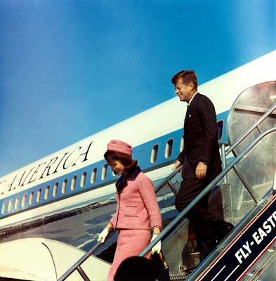 President and Mrs. Kennedy arrive in Dallas, 22 November 1963