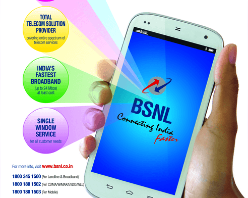 BSNL slashes the base voice call rate of Prepaid Mobile Plans from 9th November 2015 onwards on PAN India basis