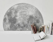 Moon sticker geek present wall sticker wall art