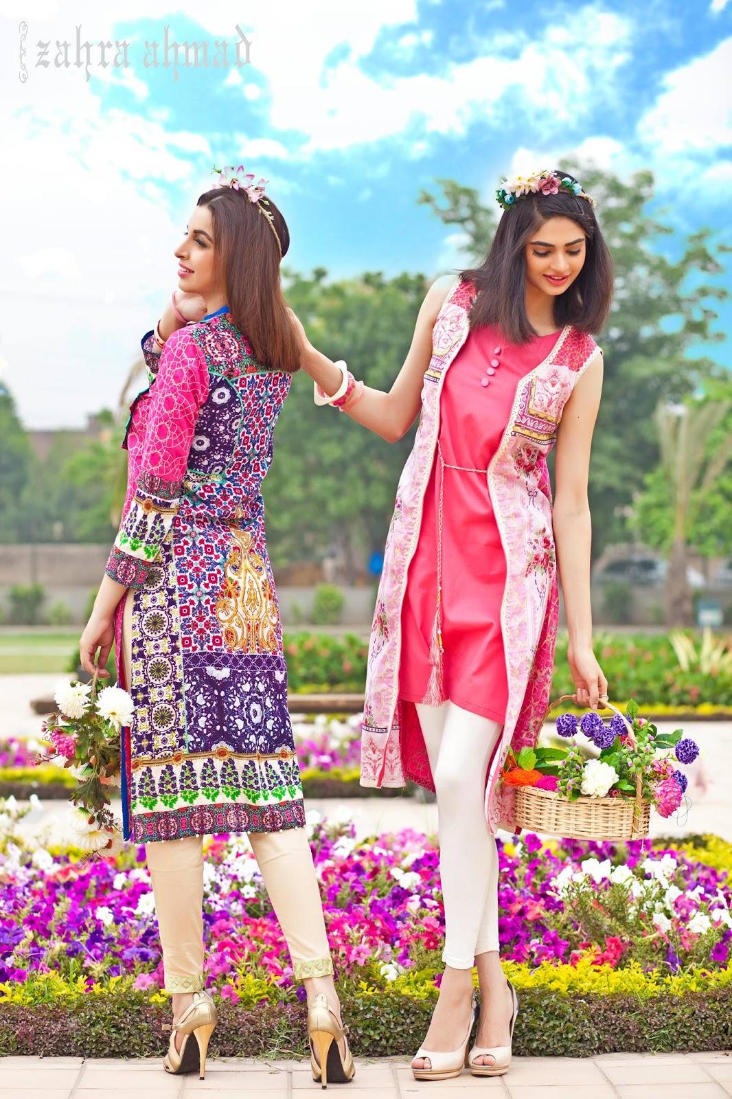 new Pakistani girls dresses designs by Zahra Ahmad