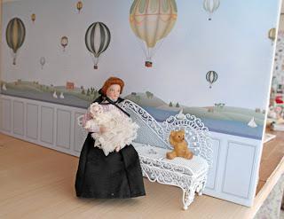 Behang Kinderkamer Regenboog : All about dollhouses and miniatures: ik heb behangen in de babykamer
