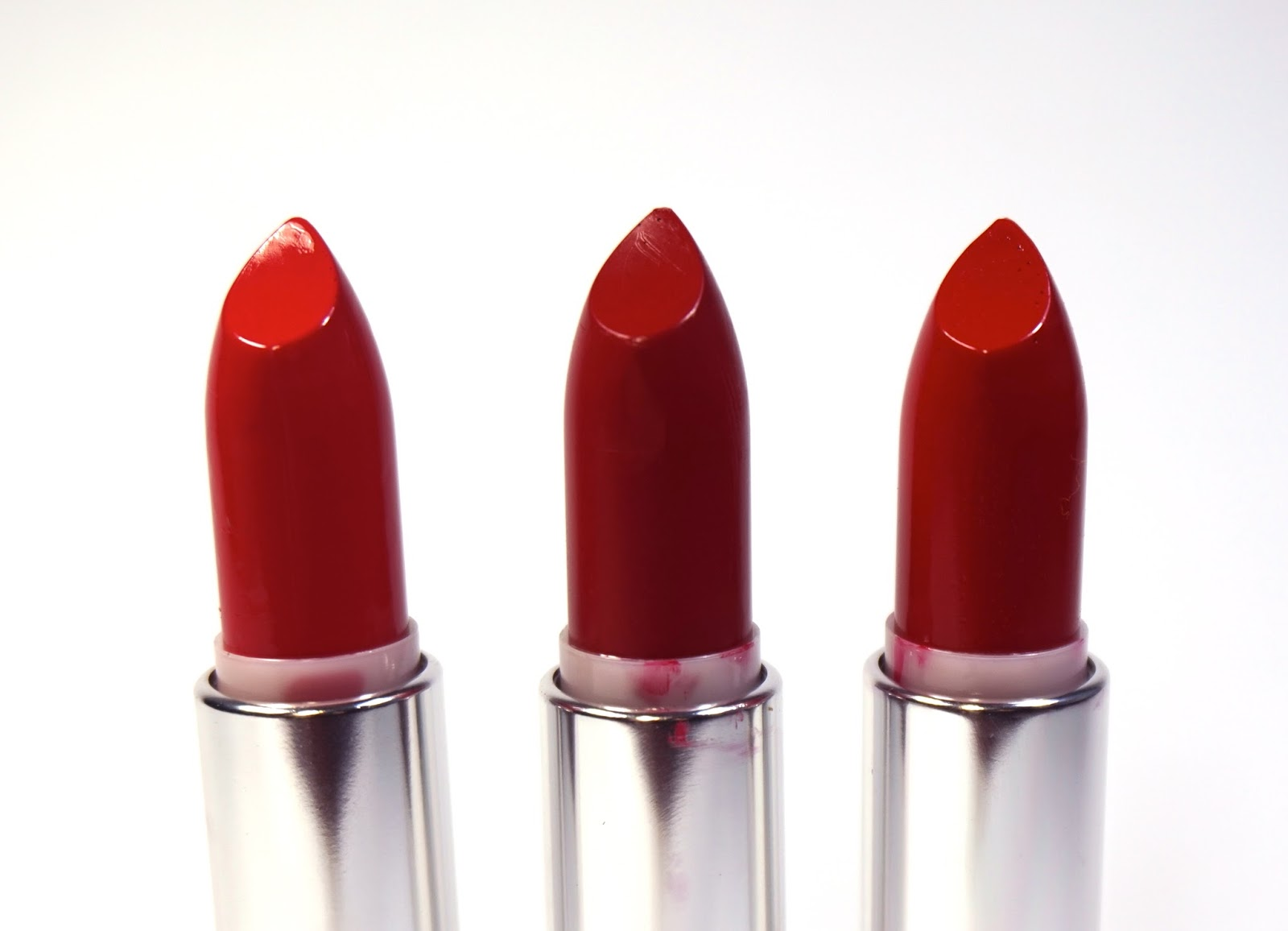Maybelline Color Sensational Red Lipsticks Review ...