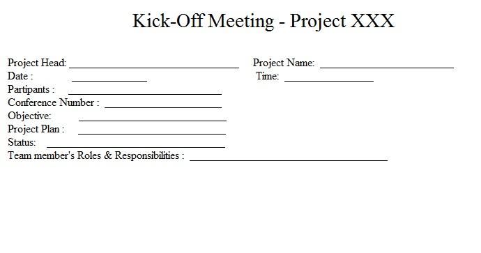 Project meeting agenda template project kick off meeting agenda template stopboris Gallery