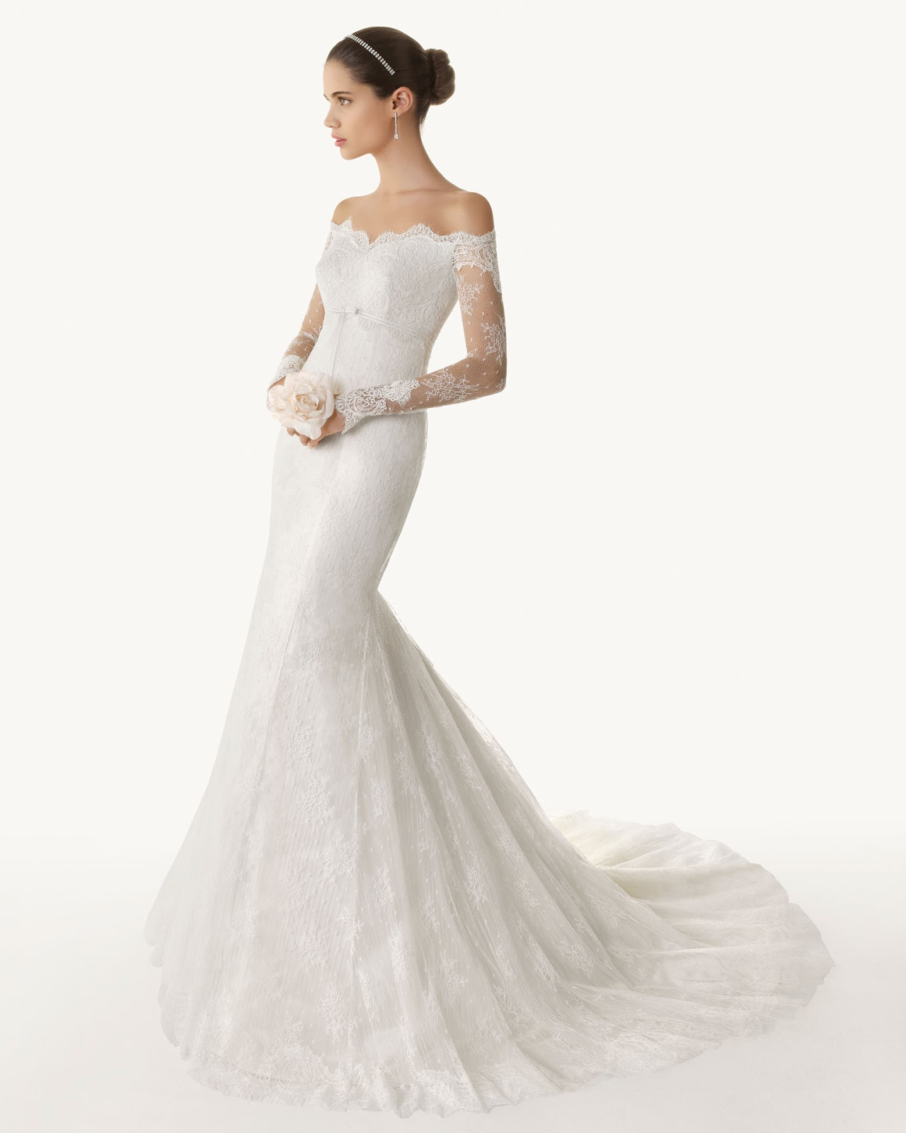 lace mermaid long sleeves wedding dress 2013 spring from Rosa Clara