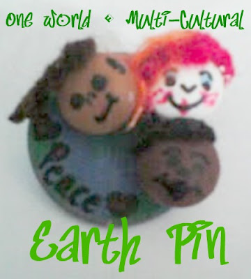 Easy Earth Day Pin Multicultural week easy craft for kids and teens to celebrate