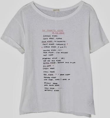 Oysho colección San Valentín 2014 camiseta texto