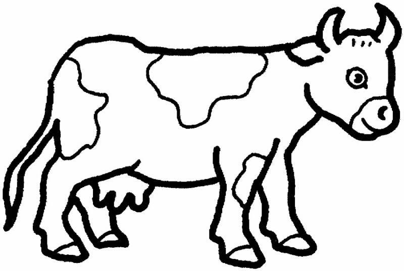 coloriage animaux dessin gratuit vache imprimer
