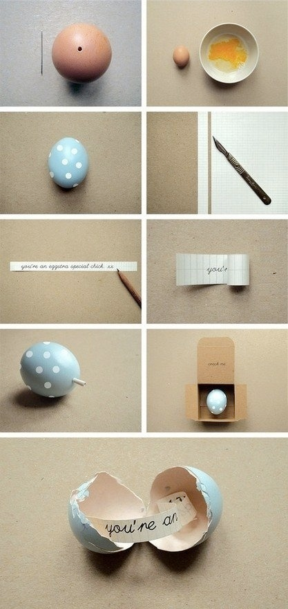 Surprise Loved ones With Written Notes In Eggshell DIY