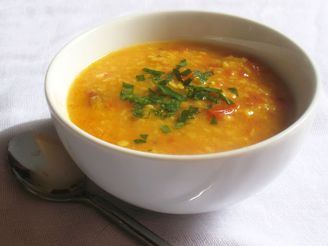 urad dal and tomato soup