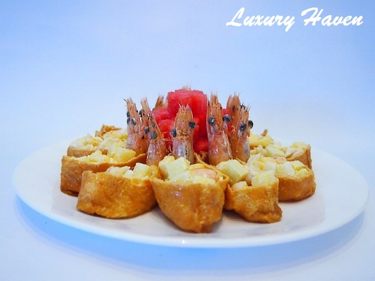 cny inari age laughing prawns salad recipe
