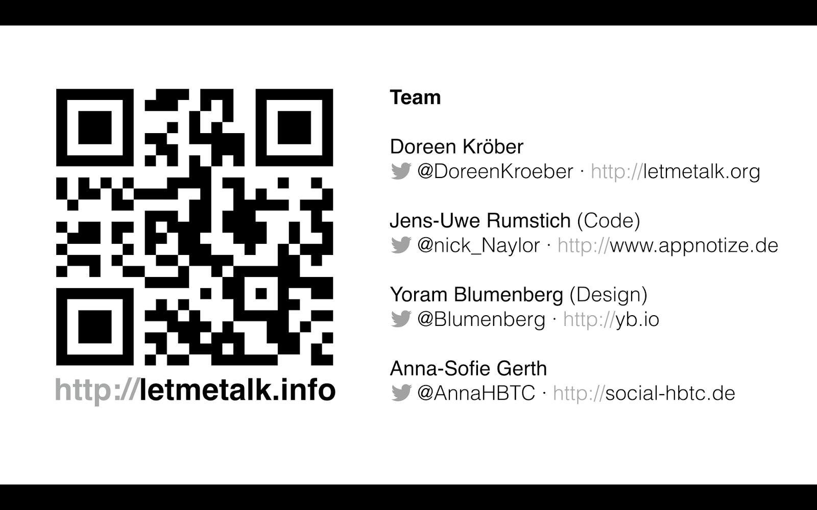 republica 2014, LetMeTalk App