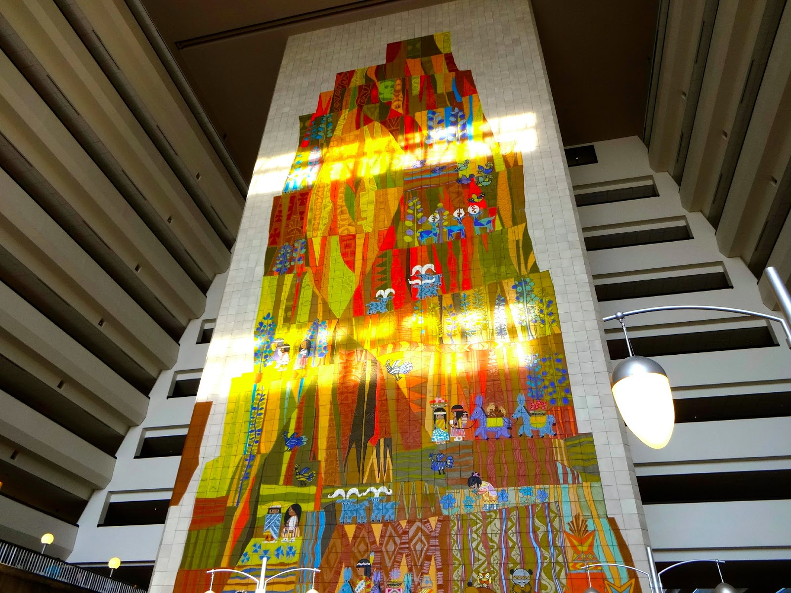 Disney 39 s contemporary resort check in florida the for Disney world mural