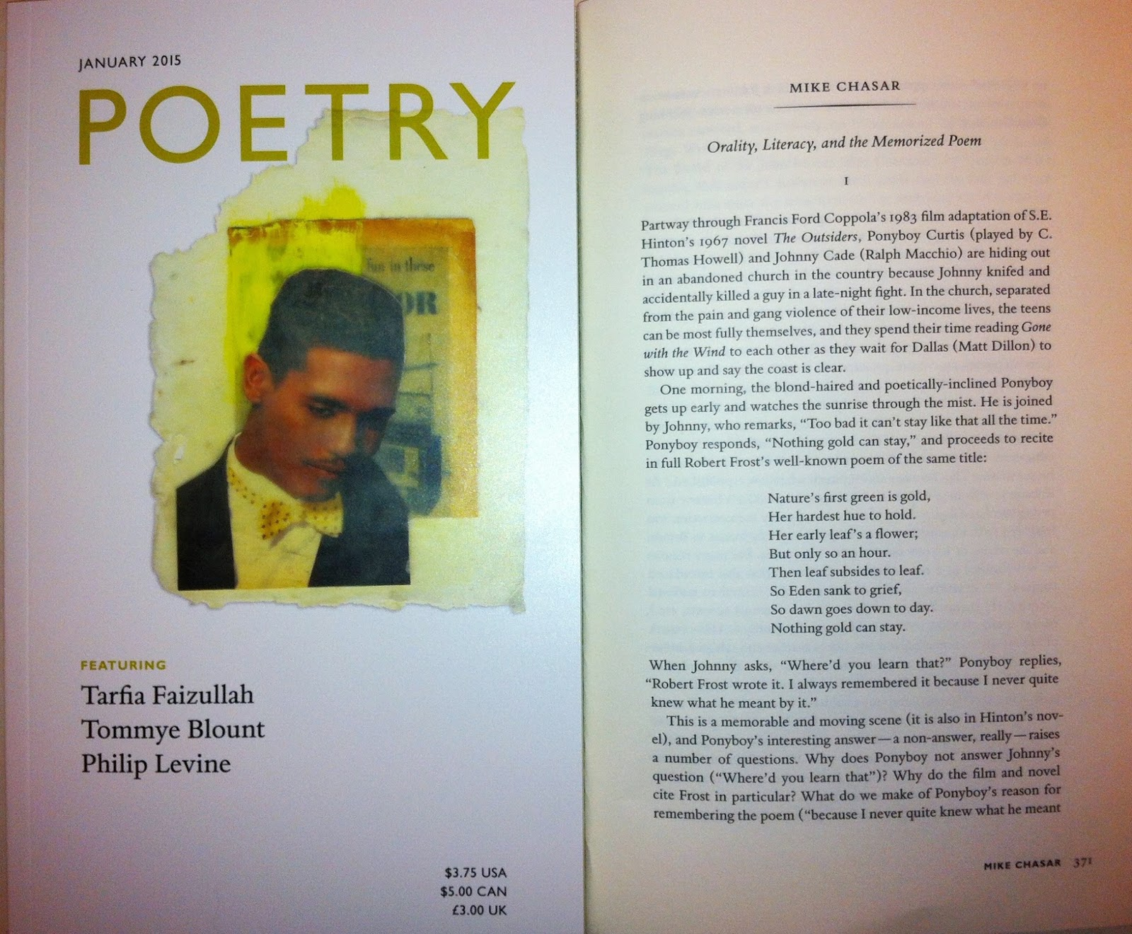 poetry popular culture orality literacy and the memorized if you pick up your copy of the 2015 issue of poetry magazine you ll in the monthly comment section an essay titled orality literacy