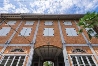 世界遺産になった富岡製糸場の外観写真