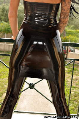 Stacey Lacey Perfect Sexy Ass in Tight Shiny Latex