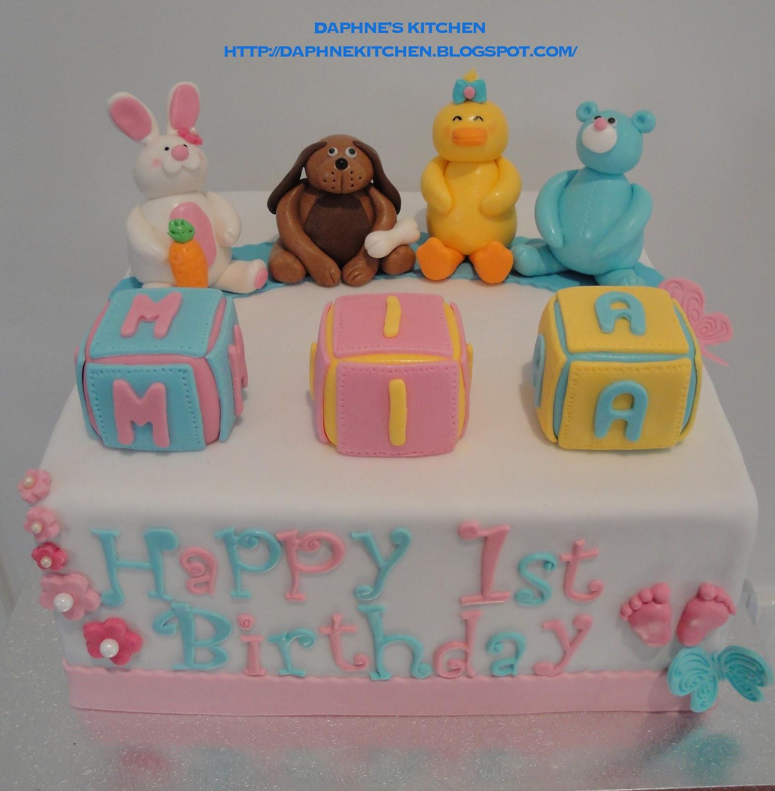 Daphne Made Her Own Birthday Cake Too: Daphne's Kitchen: MIA 1st Birthday Party :