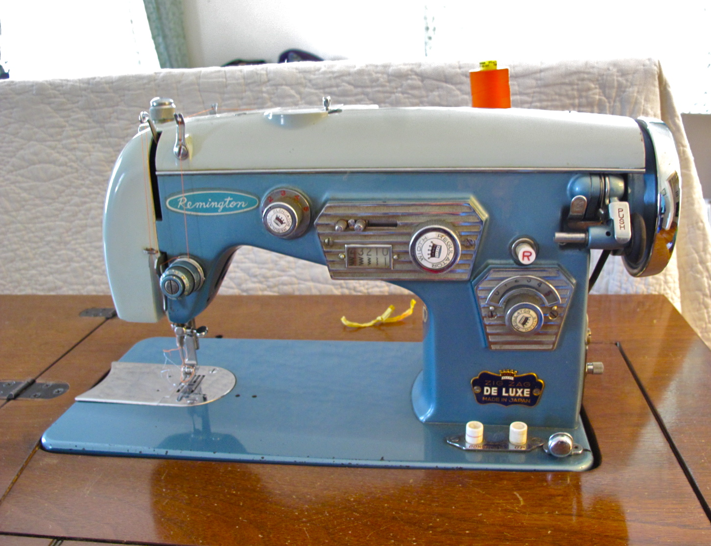 Resweater another new to me sewing machine old blue sciox Choice Image