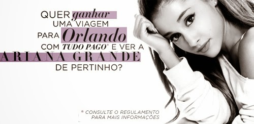 "Concurso Cultural ""Conheça a Ariana Grande"""