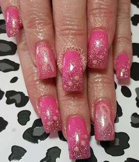 pink breast cancer awareness nails