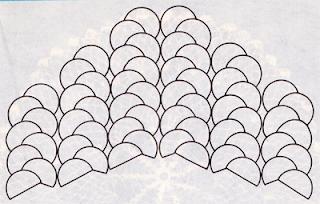 Как связать шаль из веерочков крючком? Схема вязания веерочков крючком.
