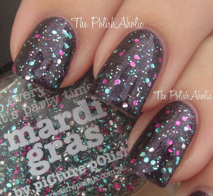 The PolishAholic: New piCture pOlish glitter swatches!