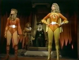 Electra Woman and Dyna Girl vs Empress of Evil and Lucrecia